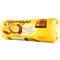 [当当自营] 西班牙进口 牛铃铛巧克力酱夹心饼干180g