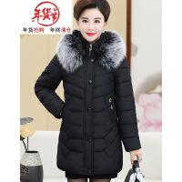 中年女冬装羽绒棉衣女妈妈冬季中长新款加厚棉袄中老年女外套