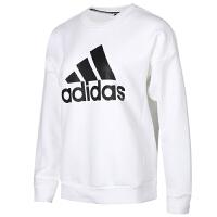 Adidas阿迪达斯 女装 运动卫衣休闲加绒套头衫 DX7965