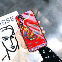 苹果6s手机壳玻璃全包iPhone6splus套新款六硅胶6p防摔卡通iPhone6s手 苹果6/6s-凤袍