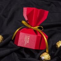 喜糖小盒 订婚包装大红色新中式手提礼盒伴手礼小盒宝宝吾家有喜喜糖盒复古 吾家有喜