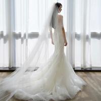 婚纱礼服鱼尾新娘结婚小拖尾齐地简约抹胸婚纱夏 拖尾款