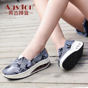 奥古狮登2018新款女鞋韩版百搭帆布鞋女懒人鞋老北京布鞋夏季鞋子