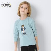 童装男童纯棉长袖t恤 2017新款春秋儿童打底衫薄款 韩版中大童潮