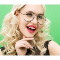 超轻复古圆框眼镜架 女防辐射眼镜可配近视眼镜框男光学镜    支持礼品卡