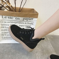 英伦风复古低跟马丁靴女2019新款学生原宿磨砂皮短靴粗跟短筒单靴