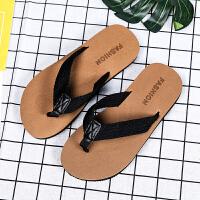 夏季时尚夏天夏季潮人字拖男拖鞋男士凉鞋防滑软底室外穿夹脚沙滩凉拖托鞋 (二代)770 棕色