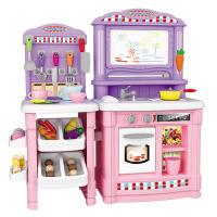 北美风 儿童厨房玩具套装仿真厨具做饭女童女孩煮饭过家家宝宝