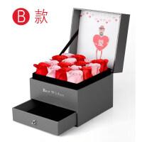 七夕节礼物银手镯首饰礼盒玫瑰花项链手链创意收纳盒闺蜜送女友