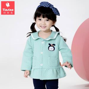 【1件3折价:41.7】纤丝鸟(TINSINO)女童夹克儿童夹棉外套宝宝秋冬加厚保暖上衣