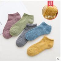 户外袜子复古加绒加厚船袜低帮短筒运动篮球毛巾袜子男士短袜纯棉