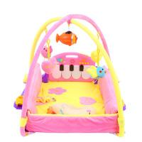 婴儿脚踏钢琴玩具健身架器宝宝音乐游戏毯爬行垫
