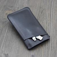 华为p10手机壳手机套 保护套 皮套 手机袋 直插套 内胆包 P10双层 黑色加大版