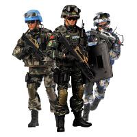 现货和平使命中国维和部队1/6兵人模型关节可动配件套装