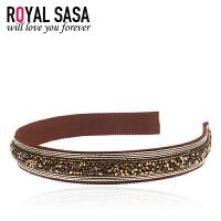 皇家莎莎RoyalSaSa蕾丝发箍发卡子发饰头箍韩版女头饰复古气质发夹盘发