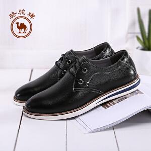 骆驼牌男鞋 新款舒适日常休闲男皮鞋手工缝线耐磨