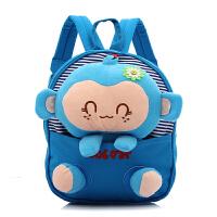 咔米嗒kamida韩版儿童书包幼儿园书包1-3岁 男女童宝宝卡通公仔猴子书包