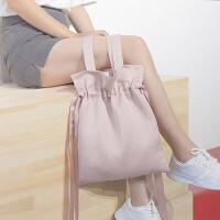 帆布包女单肩文艺原宿风韩学生单肩包简约小清新购物袋