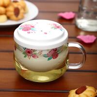 Evergreen爱屋格林 美式创意陶瓷耐热玻璃杯三件套花茶杯