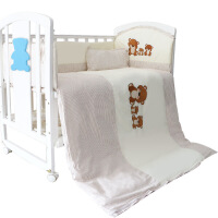 婴儿床全棉被子新生儿四季睡袋宝宝防踢纯棉被儿童盖被可拆洗内胆