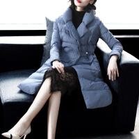 反季时尚羽绒服女2018冬季新款修身显瘦气质中长款白鸭绒轻薄外套