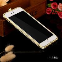 新款iphone8手机壳苹果8plus金属边框保护套7plus个性女带钻壳潮 iPhone7 金色【4.7】