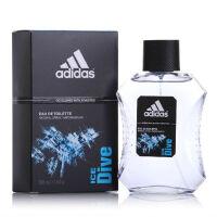 阿迪达斯(adidas) 西班牙 原产 男士香水 冰点男款运动型 持久清新淡香水 Dive-冰点-香水100ml