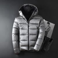№【2019新款】穿着不跑毛的罕见鹅绒冬季羽绒服男短款修身连帽800+蓬松保暖加厚潮流学生外套