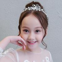 儿童礼服配饰头饰小皇冠女童公主演出服发饰发箍花童婚纱王冠头箍