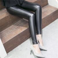 2017春装新款PU皮裤女长裤后口袋显瘦打底裤薄款外穿铅笔裤紧身小脚裤子G1625