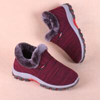 冬季新款老北京布鞋女棉鞋加绒保暖防滑女士冬天妈妈中老年人短靴