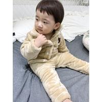 宝宝珊瑚绒套装 儿童睡衣 男小童冬季男童男孩冬