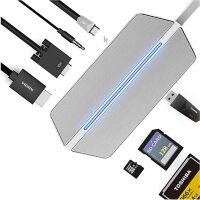 惠普薄锐ENVY 13笔记本连接投影仪视频转换Type-C转vga/hdmi 银色 扩展坞【VGA+HDMI+USB+