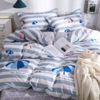 ins床上用品四件套水洗棉单人学生宿舍网红款夏季床单被套三件套4