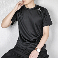 【满199减20,满399减40】幸运叶子 Adidas/阿迪达斯短袖男装2021新款运动服休闲上衣宽松舒适透气圆领印花
