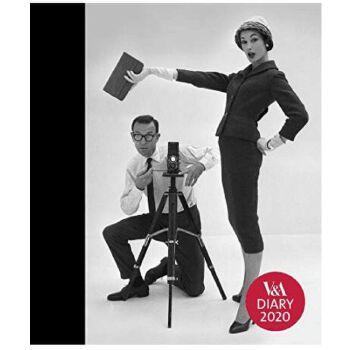 英文原版 维多利亚和阿尔伯特博物馆 2020年手账日历 周记 时尚摄影 笔记本 V&A Desk Diary 2020: John French Photography