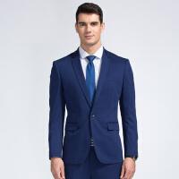 才子男装(TRIES)西服套装 男士2017新款纯色雅致一粒单排扣修身简约百搭商务西服