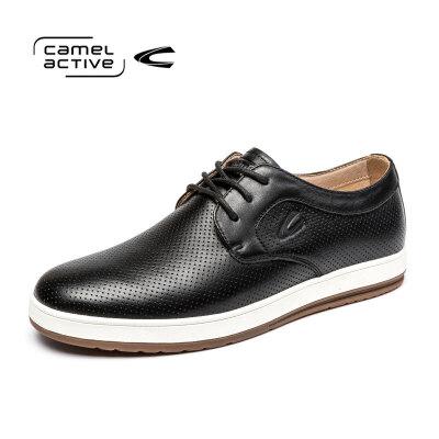 Camel Active/骆驼动感男鞋休闲鞋板鞋男韩版潮鞋圆头百搭软皮鞋