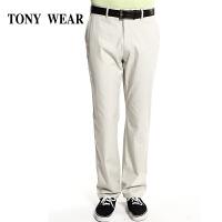 TONYWEAR汤尼威尔男士春季商务棉薄型休闲长裤中青年夏装
