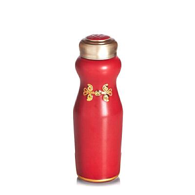 乾唐轩活瓷杯华风旗袍随身杯创意陶瓷水杯杯子带盖女士礼物高档礼盒 送人己用两相宜