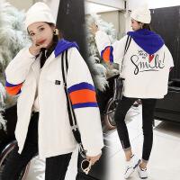 棉衣服2018新款少女韩版潮可爱学生冬季冬天港风外套短款ins 白色GT-2-227-B-1669 S