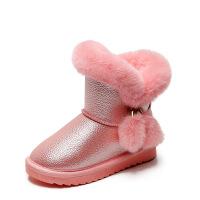 №【2019新款】冬天小朋友穿的女童靴加厚加绒毛毛棉靴小公主女孩雪地靴儿童短靴