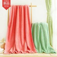 卡伴加厚儿童成人浴巾超柔软吸水新生儿毛巾被宝宝儿童盖毯洗澡巾菱形提花75*150cm