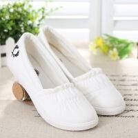 帆布鞋女 韩版透气一脚蹬懒人鞋 低帮平底休闲布鞋小白鞋女鞋