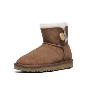 【现货】香港直邮UGG防水防污新经典系列女士雪地靴经典迷你短靴1016422专柜正品