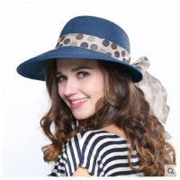 骑车帽太阳帽大沿女士遮阳帽 帽子女夏季韩版潮草帽可折叠夏天