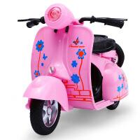 Q版迷你复古合金小绵羊龟仔女式摩托车模型带声光回力儿童玩具车
