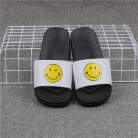 情侣拖鞋女夏室内外穿防滑软底百搭笑脸凉拖学生韩版表情拖鞋男
