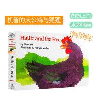 #美国进口HATTIE & FOX BOARD BOOK大公鸡哈蒂和狐狸廖彩杏书单第8周第10本【纸板】Hattie