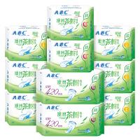 ABC茶树精华超吸纤薄瞬爽棉柔透气卫生巾组合10包 共70片